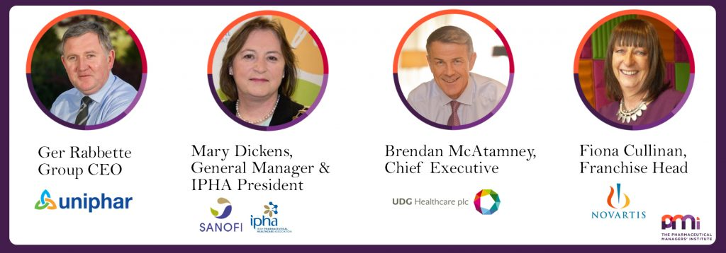 Fiona Cullinan, Novartis, Ger Rabbette, Uniphar, Brendan McAtamney, UDG Healthcare, Mary Dickens, Sanofi, IPHA, The PMI, PMI Business Day