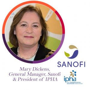 Mary Dickens, IPHA, Sanofi, The PMI