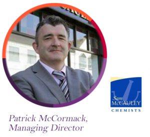 Patrick McCormack, Sam McCauley, Sam McCauley Chemists, The PMI